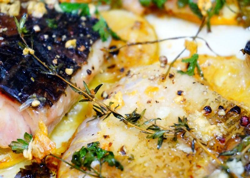 Рецепт рыбы в чесночном масле фото