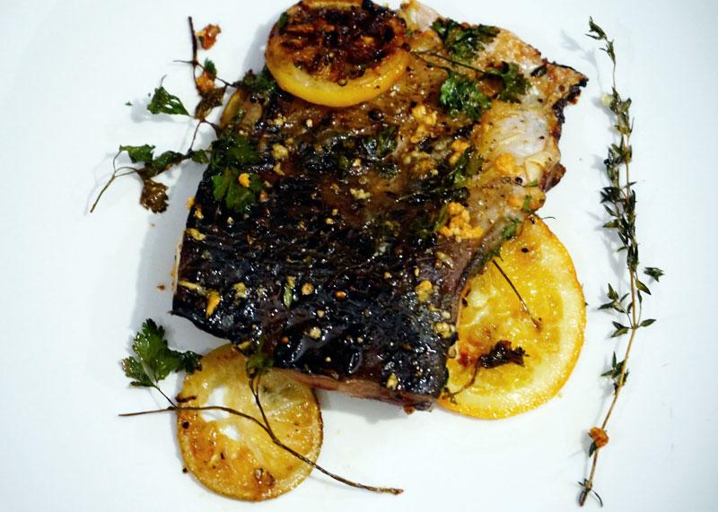 Рыба в чесночном масле фото