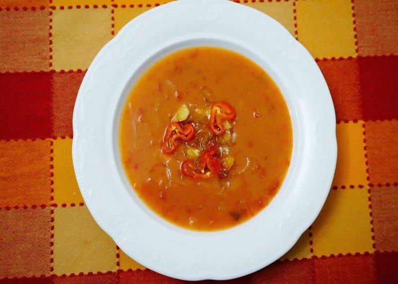 Суп из тыквы и сидра фото