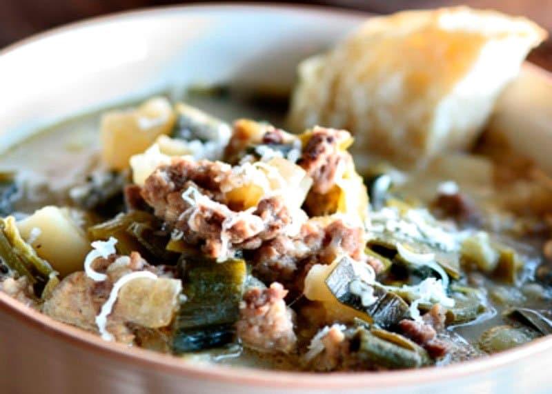 Рецепт супа с пореем и говядиной фото