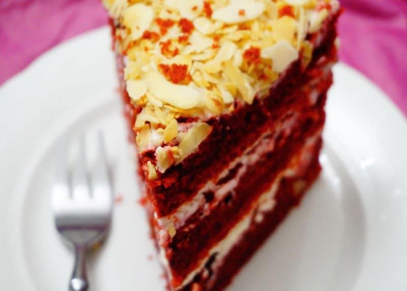 Приготовление торта красный бархат фото