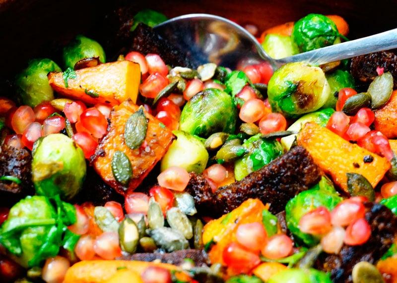 Приготовление мексиканского салата из брюссельской капусты фото