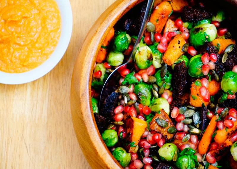 Мексиканский салат из брюссельской капусты рецепт фото