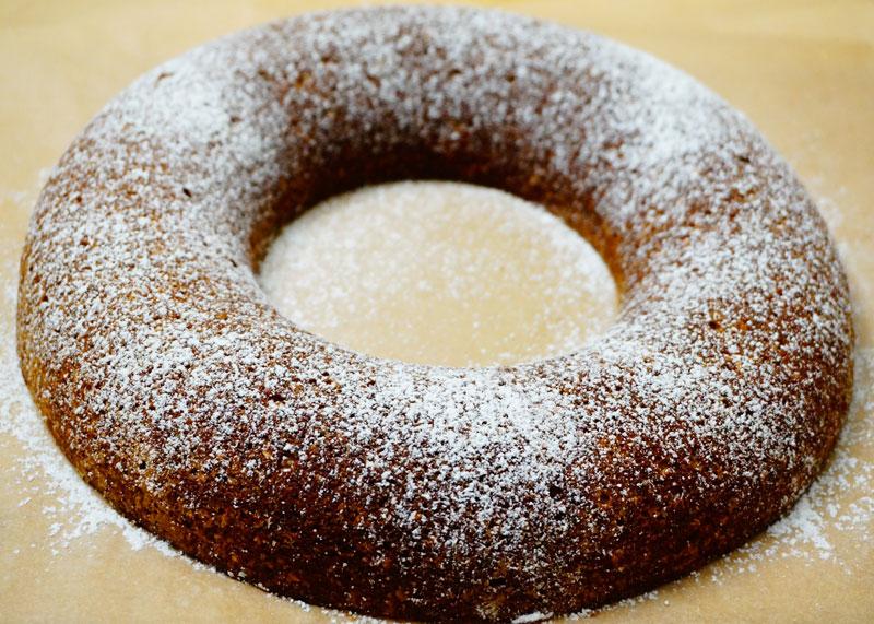 Миндальный кекс с апельсиновым пюре фото