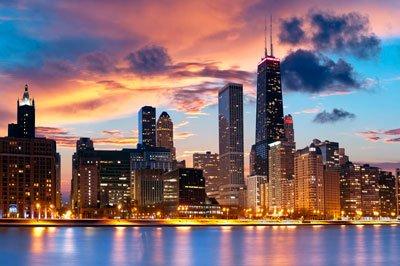 Ночной Чикаго фото