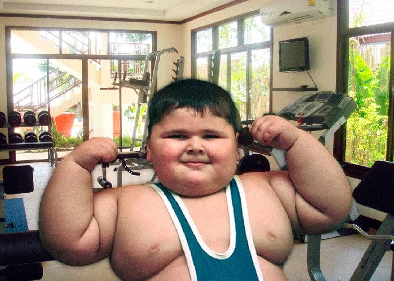 Жирный ребенок фото