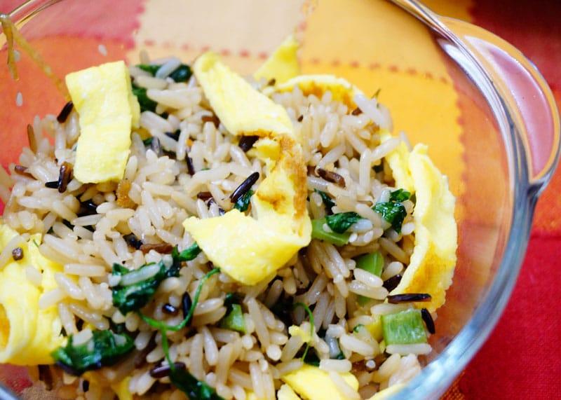 Рис с яйцом по-корейски приготовление фото