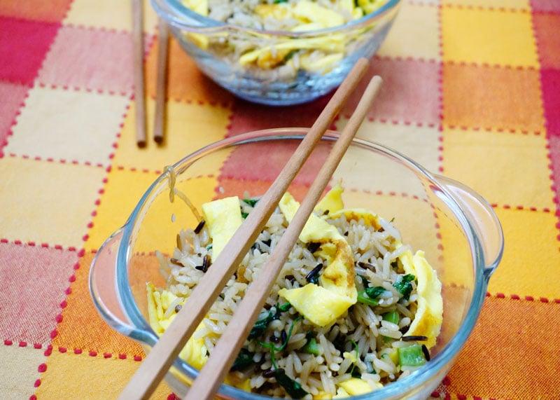 Рис с яйцом по-корейски фото