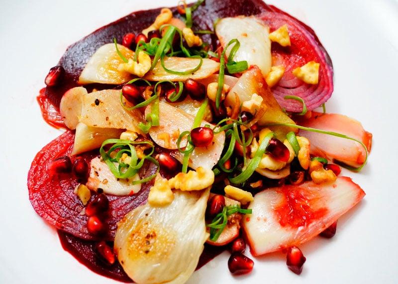 Рецепт салата из фенхеля и свеклы фото
