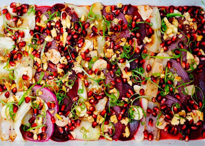Салат из фенхеля и свеклы фото