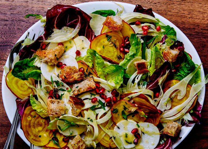 Рецепт салата с фенхелем и гранатом фото