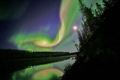 Северное сияние Юкон фото