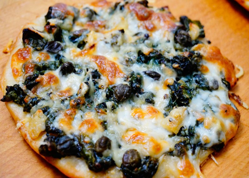 Рецепт пиццетты со шпинатом фото