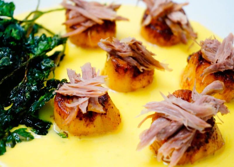 Морские гребешки с уткой рецепт фото