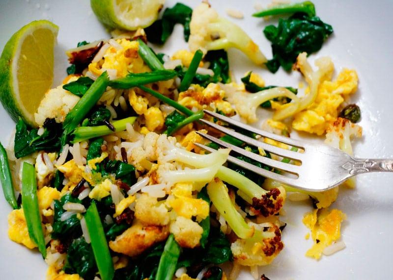 Рецепт риса с цветной капустой фото