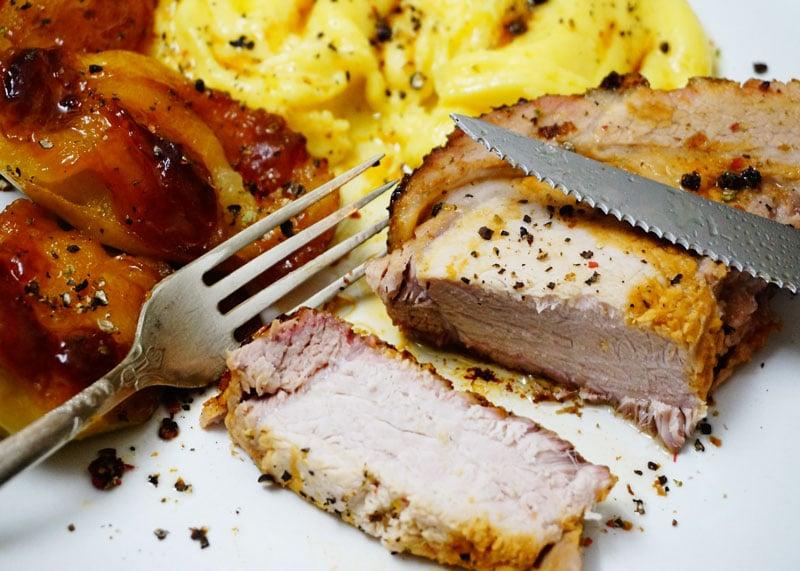 Рецепт свинины с яблоками фото