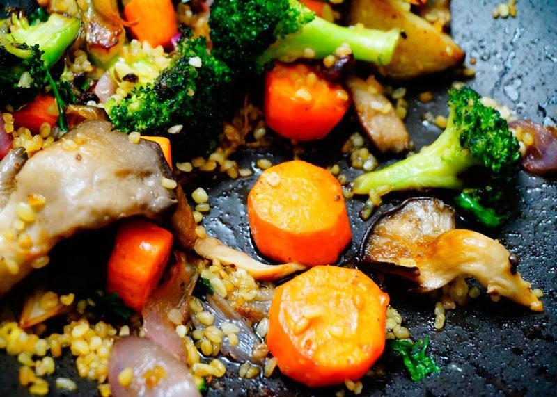 Рецепт булгура с жареными овощами фото