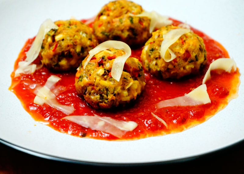 Овощные шарики с сыром Гауда фото