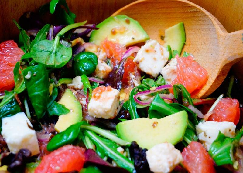 Салат из авокадо и грейпфрута приготовление фото