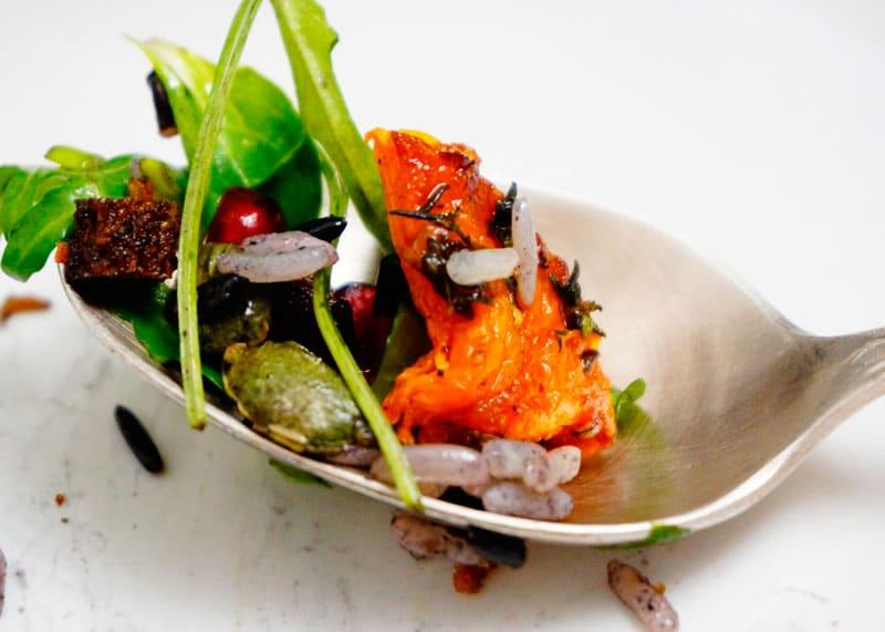 Салат из риса, зелени и тыквы фото