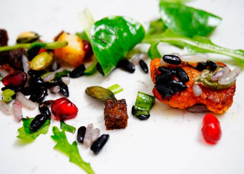 Рецепт салата из риса, тыквы и зелени фото