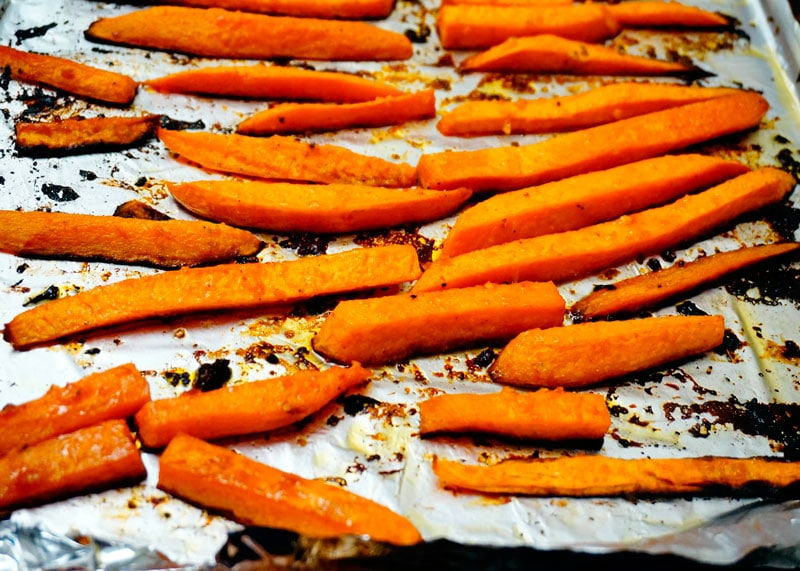 Рецепт сладкого картофеля, запеченного в духовке фото