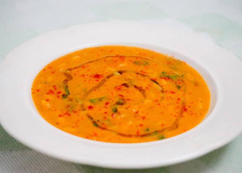 Суп рюре из красной чечевицы и орзо фото