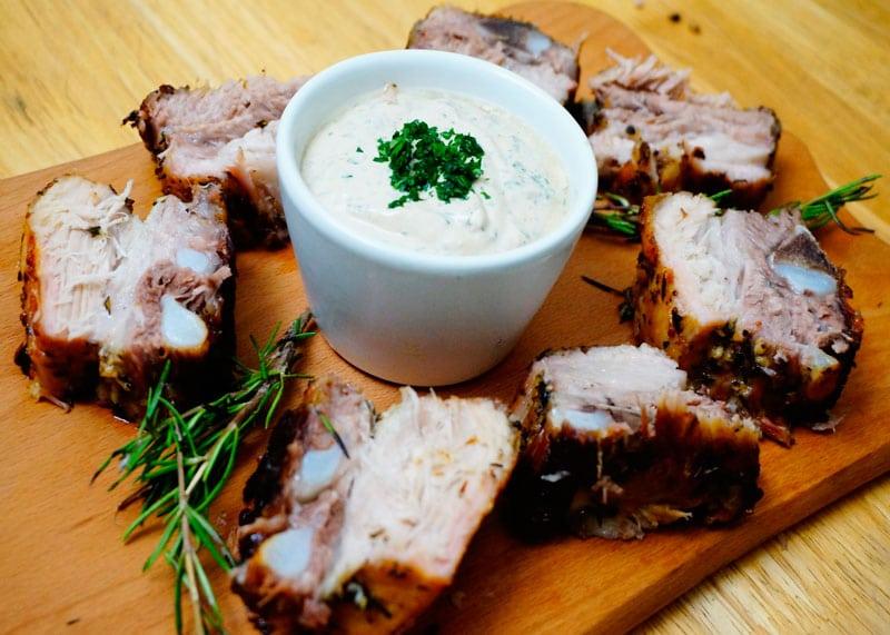 Свиные ребрышки с розмарином рецепт фото