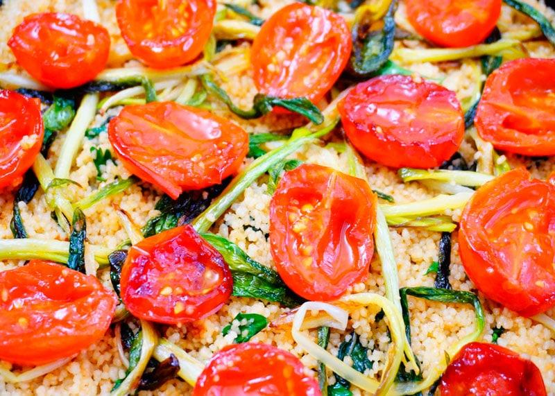 Рецепт кус-кус с жаренными помидорами черри фото