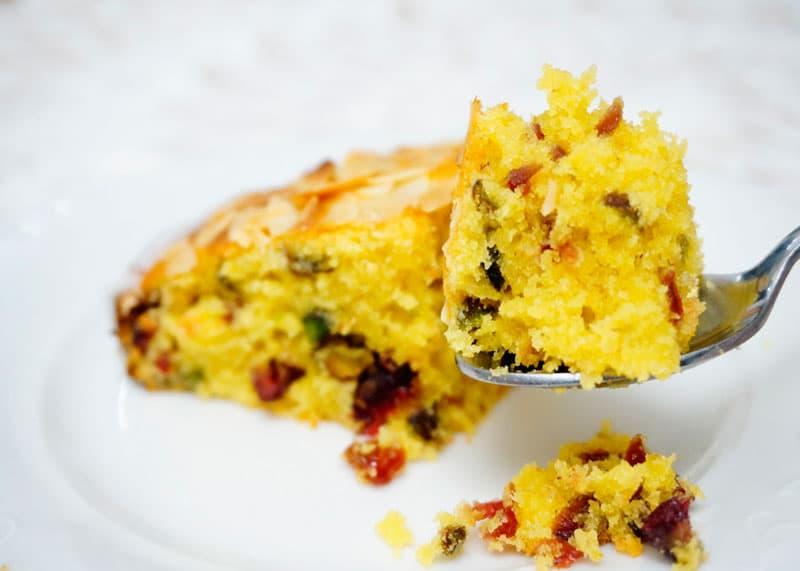 Рецепт маленького миндального кекса фото
