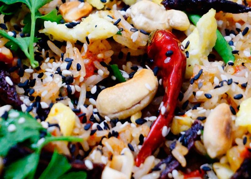 Рис жаренный с вялеными томатами фото