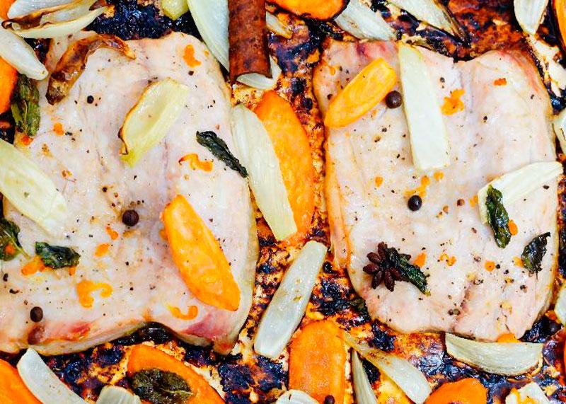Рыба с овощами по-мароккански фото