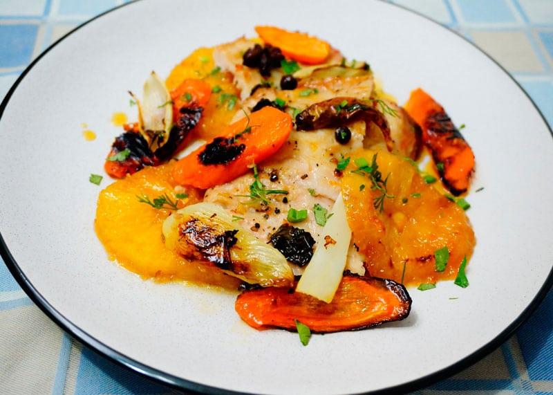 Рыба с овощами по-мароккански рецепт фото