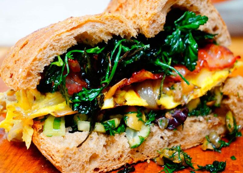 Сэндвич с фриттатой фото