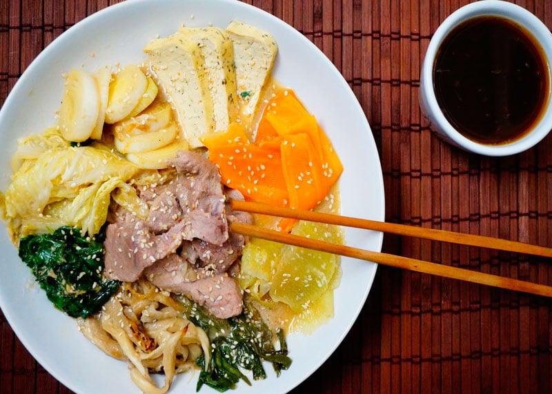Суп из свинины тоню набэ фото