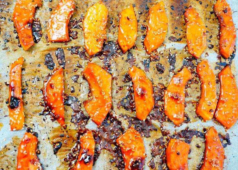 Закуска из ломтиков тыквы фото