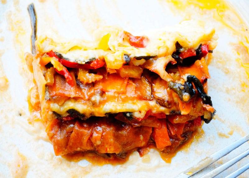 Лазанья с жаренными овощами рецепт фото