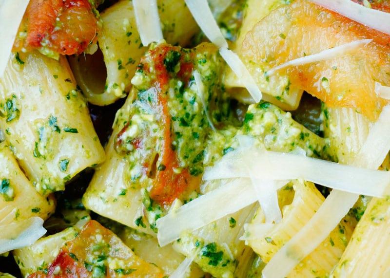 Рецепт паста ригатони с гуанчиале фото