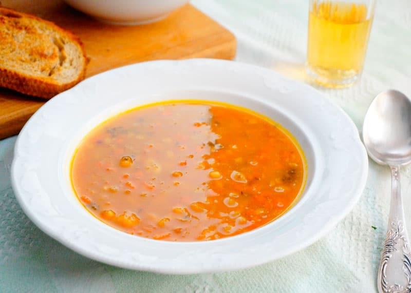 Суп из тыквы и фасоли фото
