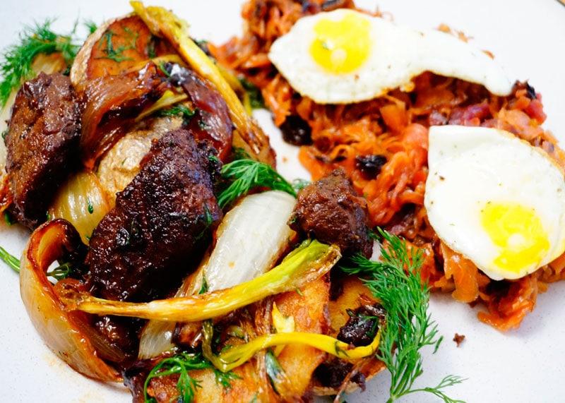 Тирольский грестль из картофеля и говядины фото