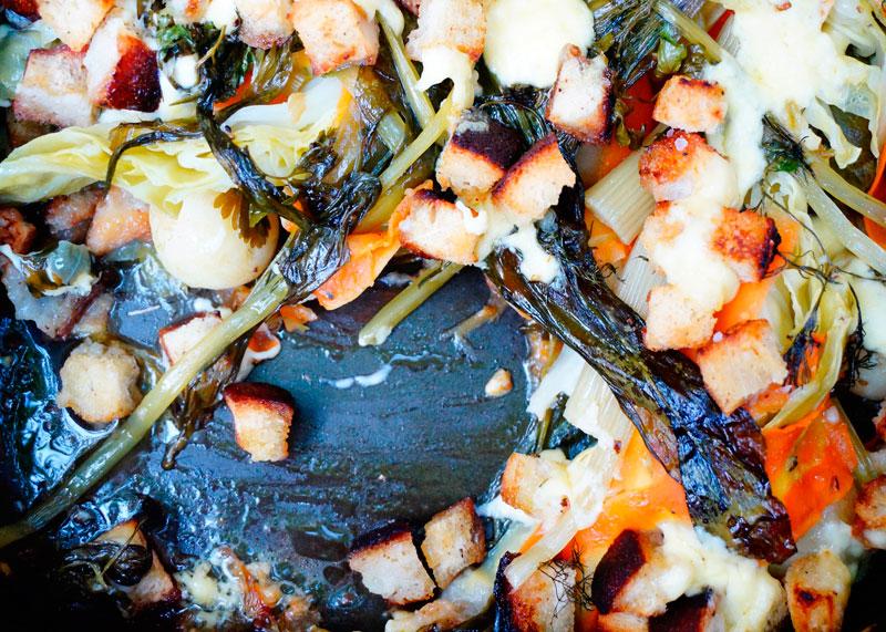 Весенние овощи запеченные с розмарином фото