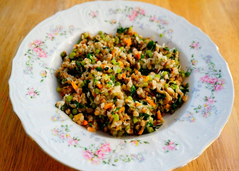 Гречневая каша с овощами рецепт фото