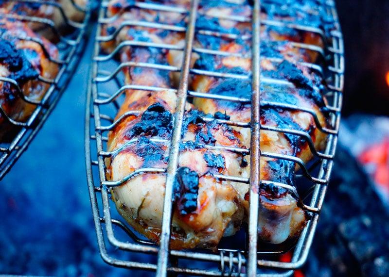 Цыпленок на гриле в меду и лаймовом соке фото
