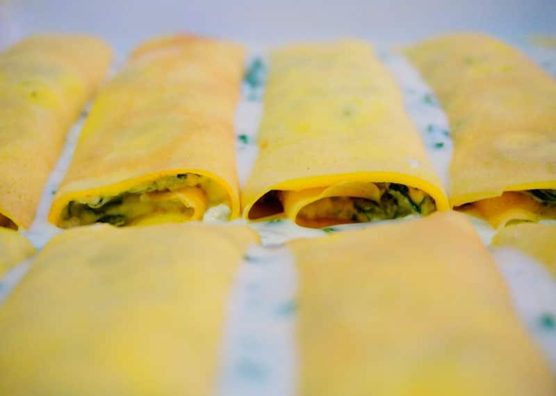 Маникотти с сыром и шпинатом рецепт фото