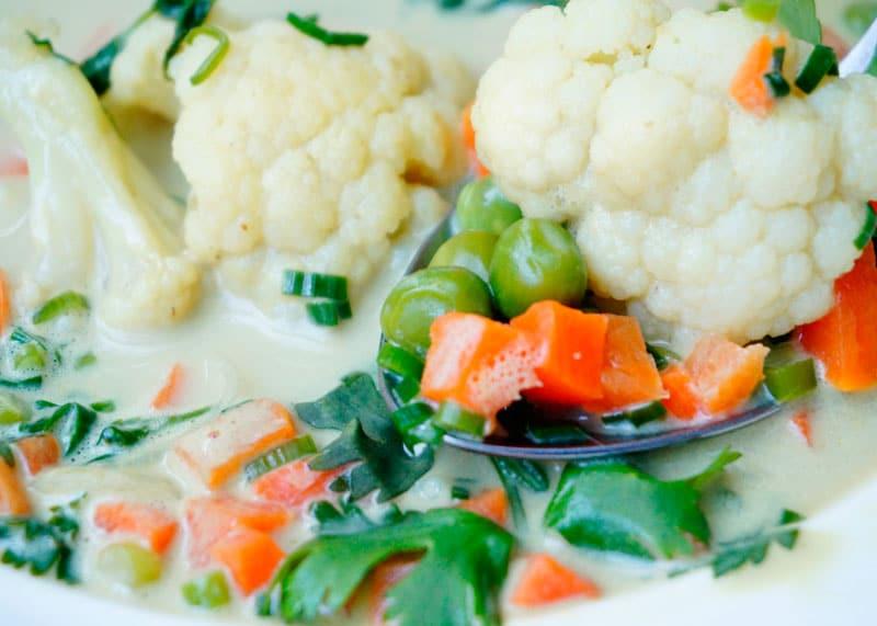 Овощной суп карри фото