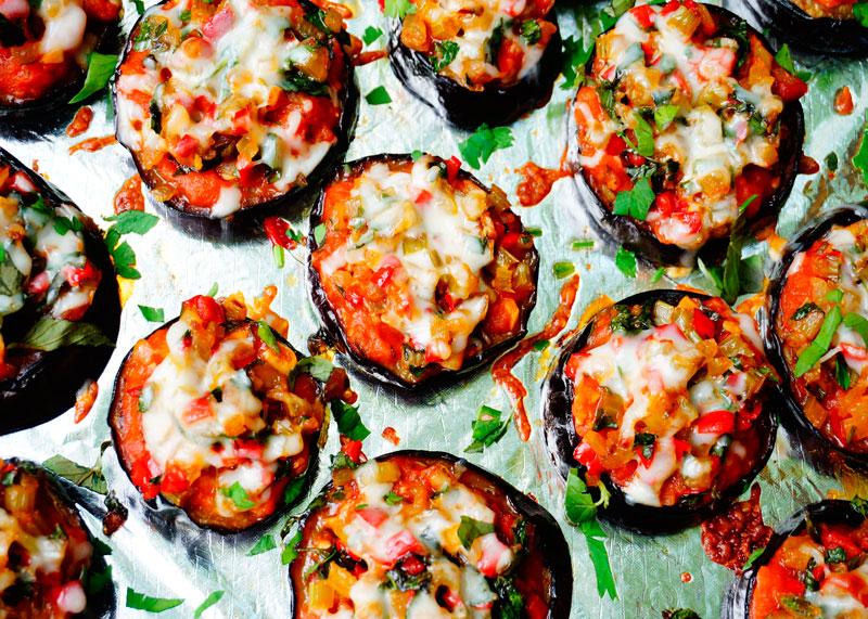 Пиццы из баклажанов рецепт фото