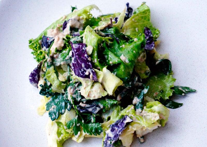 Салат с соусом сальса ди ночи фото