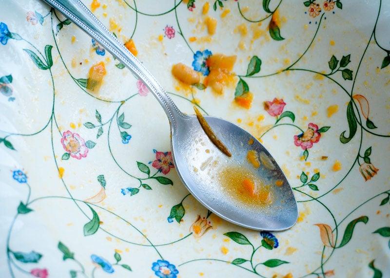 Суп из тыквы и белой фасоли фото