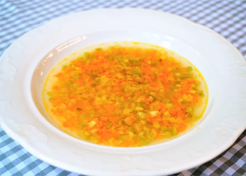 Овощи брюнуаз с консоме фото