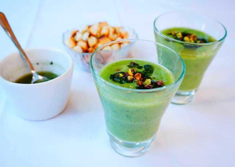 Гаспачо из огурцов и авокадо рецепт фото